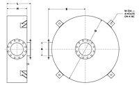 Dimensional Drawing for Model DHK Series Hospital Grade Disk Silencers