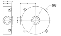 Dimensional Drawing for Model DCP2 High Pressure Series Critical Grade Disk Silencers