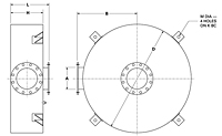 Dimensional Drawing for Model DHP High Pressure Series Hospital Grade Disk Silencers