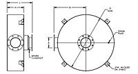 Dimensional Drawing for Model DCS Series Critical Grade Spark Arresting Disk Silencers
