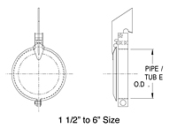 Dimensional Drawing for Model RCP Series Pipe Rain Caps