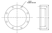 Dimensional Drawing for Model DREFL Series Steel Welding Double Reducing Plate Flanges