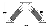 Dimensional Drawing for Cummins Wye Connectors (WYE-020016)
